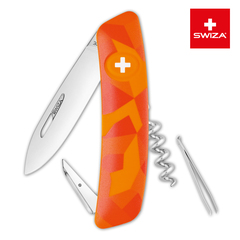 Швейцарский нож SWIZA C01 Camouflage, 95 мм, 6 функций, оранжевый KNI.0010.2070