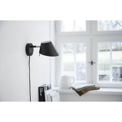 Лампа настенная Office, D18 см, черная матовая Frandsen 430265011