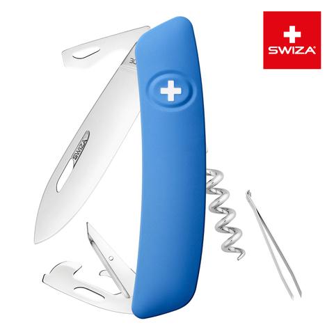 Швейцарский нож SWIZA D03 Standard, 95 мм, 11 функций, синий MV-KNI.0030.1030