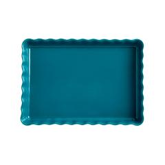 Форма для пирога прямоугольная 24х34см Emile Henry (цвет: лазурь) 606038