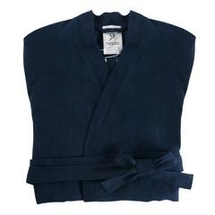 Халат из умягченного льна темно-синего цвета Tkano TK18-BR0006