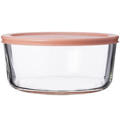 Контейнер для еды Smart Solutions стеклянный 1652 мл розовый JV1652RD