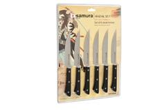 Набор стейковых ножей 6 в 1 Samura Harakiri SHR-0260B/K