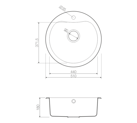 Кухонная мойка из нержавеющей стали OMOIKIRI Saroma 51-1-AB (4993048)