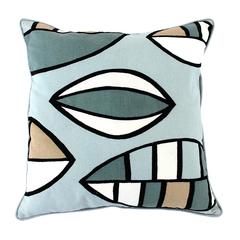 Чехол для подушки с двустронним принтом 'Гармония тайги', вышивкой и декоративной окантовкой Tkano TK18-CC0015