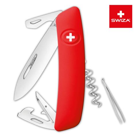 Швейцарский нож SWIZA D03 Standard, 95 мм, 11 функций, красный (блистер) MV-KNI.0030.1001