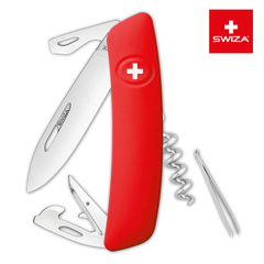 Швейцарский нож SWIZA D03 Standard, 95 мм, 11 функций, красный (блистер) KNI.0030.1001