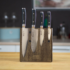 Комплект из 4 кухонных ножей (69 слоев) YAXELL RAN и подставки