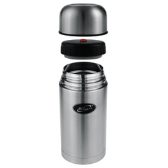 Термос для еды Biostal (1 литр) в чехле, стальной NT-1000