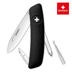 Швейцарский нож SWIZA D02 Standard, 95 мм, 6 функций, черный (блистер) KNI.0020.1011