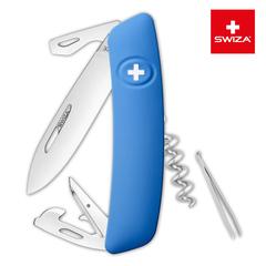 Швейцарский нож SWIZA D03 Standard, 95 мм, 11 функций, синий (блистер) KNI.0030.1031