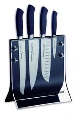 Набор из 4 кованых ножей DICK Active Cut в прозрачной магнитной подставке 89072000