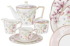 Чайный сервиз Цветы 21 предмет на 6 персон Anna Lafarg Emily 57514
