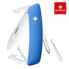 Швейцарский нож SWIZA D04 Standard, 95 мм, 11 функций, синий (блистер) KNI.0040.1031