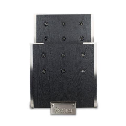 Подставка для ножей с магнитными держателями, бук и сталь, Chef, CH-001/BL