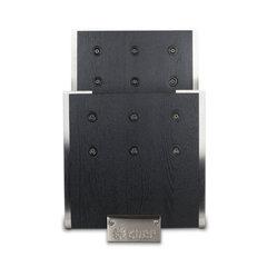 Подставка для ножей с магнитными держателями, ясень и сталь, Chef, CH-001/BL