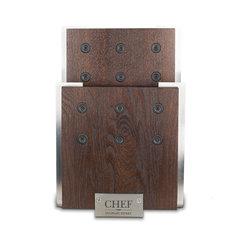 Магнитная подставка для ножей, ясень и сталь, Chef, CH-001/BR
