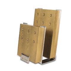 Подставка для ножей с магнитными держателями, ясень и сталь, Chef, CH-001/GL