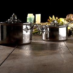 Набор посуды, крышки с посеребренной декорированной ручкой, RUFFONI Opus Prima арт. Z06 Ruffoni