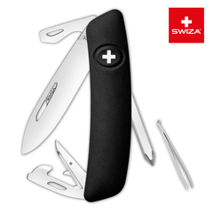 Швейцарский нож SWIZA D04 Standard, 95 мм, 11 функций, черный KNI.0040.1010
