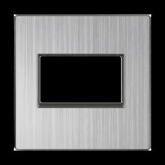 Накладка для двойной розетки Еthernet RJ-45 (глянцевый никель) WL02-RJ45+RJ45-CP Werkel