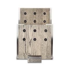 Подставка для ножей с магнитными держателями, ясень и сталь, Chef, CH-001/GR**