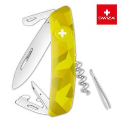 Швейцарский нож SWIZA C03 Camouflage, 95 мм, 11 функций, желтый KNI.0030.2080