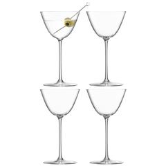Набор из 4 бокалов для мартини Borough 195 мл LSA International G1619-07-301