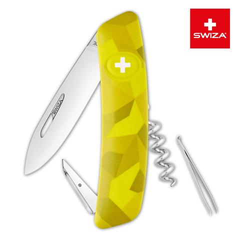Швейцарский нож SWIZA C01 Camouflage, 95 мм, 6 функций, желтый MV-KNI.0010.2080