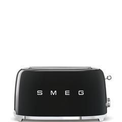 Тостер на 4 ломтика Smeg (Черный) TSF02BLEU