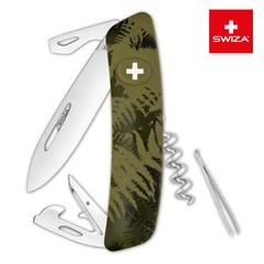 Швейцарский нож SWIZA C03 Camouflage, 95 мм, 11 функций, хаки KNI.0030.2050