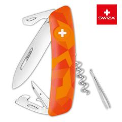 Швейцарский нож SWIZA C03 Camouflage, 95 мм, 11 функций, оранжевый KNI.0030.2070