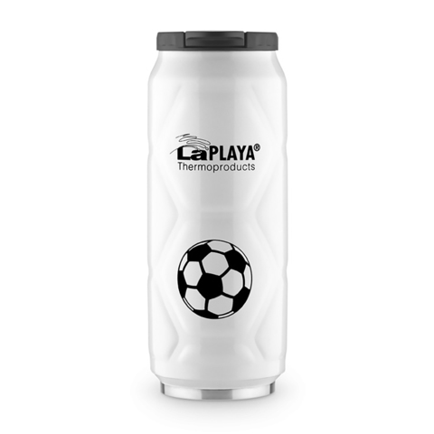 Термокружка La Playa Football Can (0,5 литра) белая