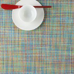 Салфетка подстановочная, жаккардовое плетение, винил, (36х48) Garden (100132-024) CHILEWICH Mini Basketweave арт. 0025-MNBK-GARD