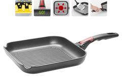 Сковорода-гриль VILMA с антипригарным покрытием и съёмной ручкой Nadoba 728220