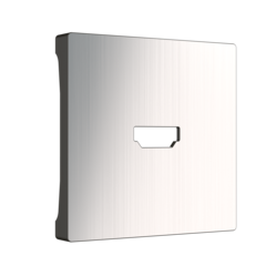 Накладка для розетки HDMI (глянцевый никель) WL02-HDMI-CP Werkel