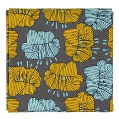 Скатерть из хлопка серого цвета с принтом Цветы из коллекции Prairie, 170х170 см Tkano TK20-TC0007