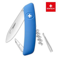 Швейцарский нож SWIZA D01 Standard, 95 мм, 6 функций, синий KNI.0010.1030