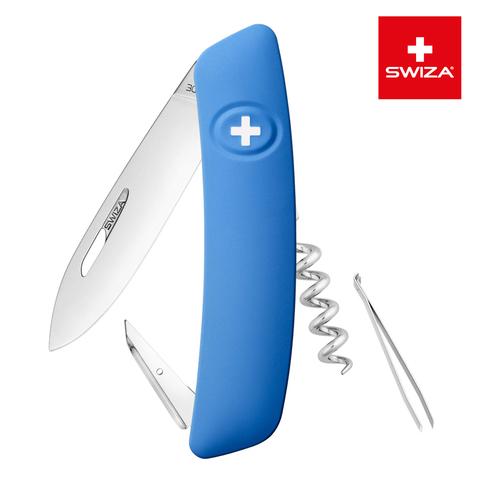Швейцарский нож SWIZA D01 Standard, 95 мм, 6 функций, синий MV-KNI.0010.1030