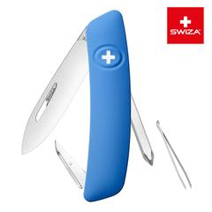 Швейцарский нож SWIZA D02 Standard, 95 мм, 6 функций, синий (блистер) KNI.0020.1031