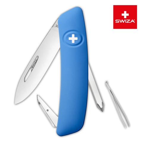 Швейцарский нож SWIZA D02 Standard, 95 мм, 6 функций, синий (блистер) MV-KNI.0020.1031