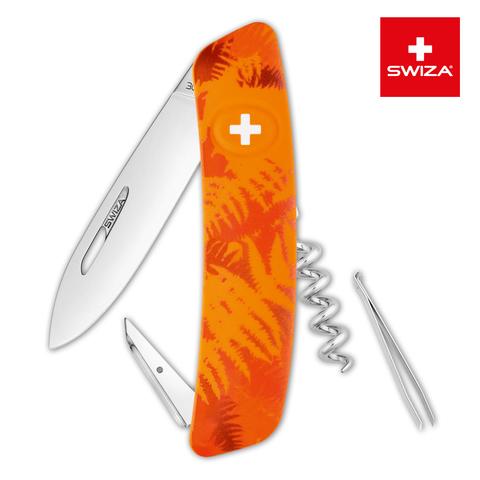 Швейцарский нож SWIZA C01 Camouflage, 95 мм, 6 функций, оранжевый MV-KNI.0010.2060