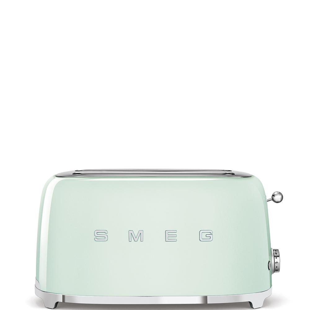 Тостер на 4 ломтика Smeg (Пастельный зеленый) TSF02PGEU