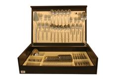 Набор столовых приборов 75 предметов на 12 персон Cosmos в деревянной коробке. 33129