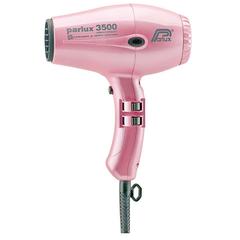 Фен Parlux 3500 SuperCompact Ceramic+Ionic, 2000Вт, ионизация, 2 насадки, розовый 0901-3500 ion pink