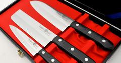 Набор из 3 кухонных ножей Tojiro Gift Set (FG-8300)