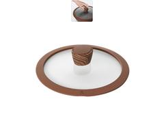 Стеклянная крышка GRETA с силиконовым ободом, 20 см Nadoba 751315