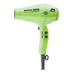 Фен Parlux 3800 Ceramic+Ionic, 2100 Вт, ионизация, 2 насадки, салатовый 0901-3800 green