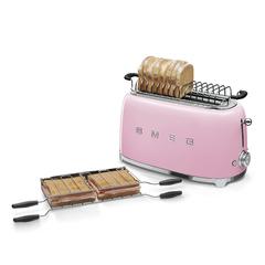 Тостер на 4 ломтика Smeg (Розовый) TSF02PKEU