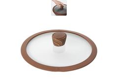 Стеклянная крышка GRETA с силиконовым ободом, 24 см Nadoba 751313
